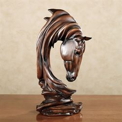 Horse Solitude Sculpture Brown
