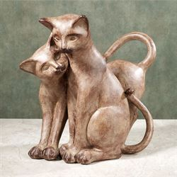 Purrfect Love Cat Table Sculpture
