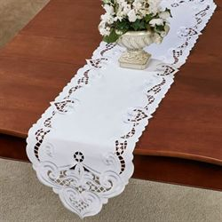 Classic Hearts Table Runner White 13 x 65