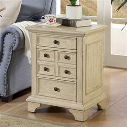 Grainger Chairside Table Antique Ivory