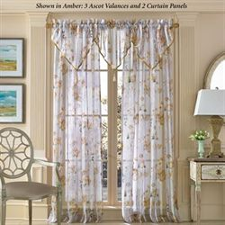 Imperial Garden Sheer Curtain Panel