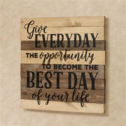 Give Everyday Wall Plaque Sign Multi Earth