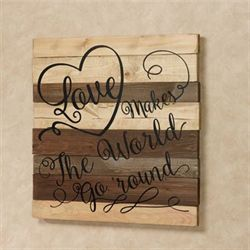 Love Wall Plaque Sign Multi Earth