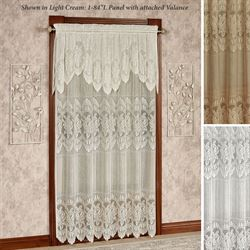 Adelina Lace Curtain Panel with Valance