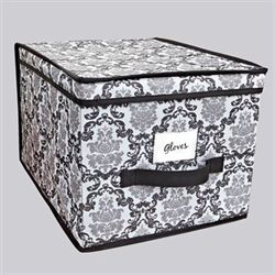 Lydia Large Storage Boxes Black Set of Two