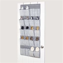 Zoey Over Door Shoe Organizer Gray