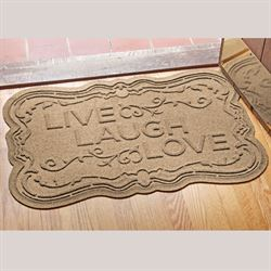 Live Laugh Love WaterGuard Doormat 35 x 22