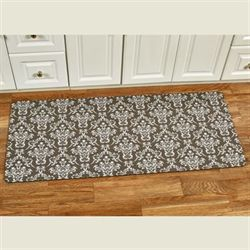 Corydon Scroll Comfort Runner Mat Brown 52 x 22
