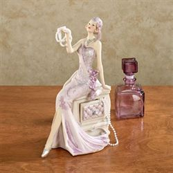 Graceful Beauty Lady Figurine Lilac
