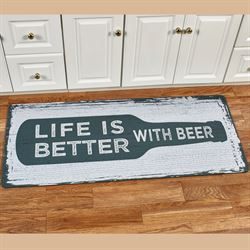 Beer Sign Comfort Runner Mat Green 52 x 22