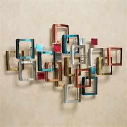 Retro Modo Metal Wall Sculpture Multi Jewel
