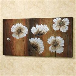 Dancing Blooms Canvas Art Multi Warm