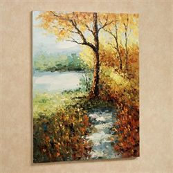 Autumn Trail Canvas Wall Art Multi Warm