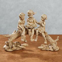 Summer Stories Children Figurine Beige