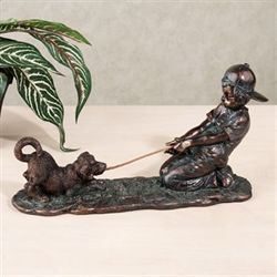 Tug of War Figurine Verdi Bronze