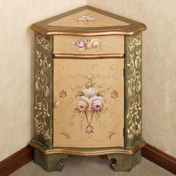 Zandeah Corner Cabinet Straw