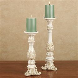 Brooklynn Ivory Candleholder Set Set of Two