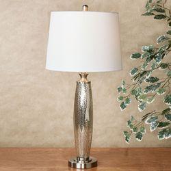 Aimee Table Lamp Brushed Steel