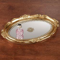 Adina Mirrored Vanity Tray Gold