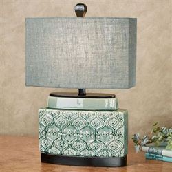 Basia Accent Table Lamp Blue/Green