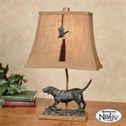 Black Lab Accent Table Lamp Natural