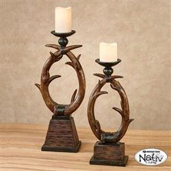 Antler Candleholders Natural Set of Two