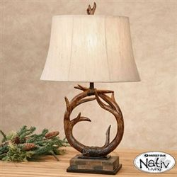 Antler Table Lamp Natural