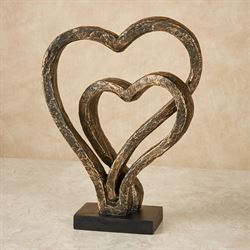 Our Hearts As One Love Bronze Table Sculpture