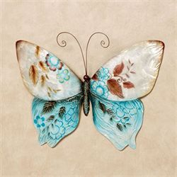 Butterfly Metal Wall Art Multi Jewel
