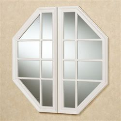 Cheverly Octagonal Wall Mirror Antique White