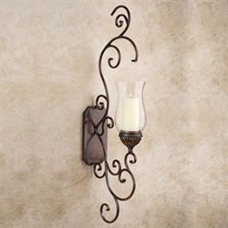 Carrara Scrolling Wall Sconce Light Bronze