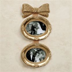 Mavita Bow Double Photo Frame Gold