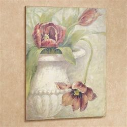 Vase of Tulips Canvas Wall Art Terra Cotta