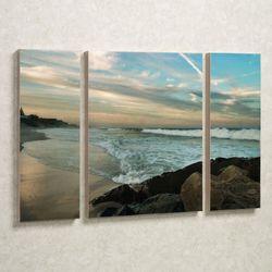 Evening Solitude Canvas Art Set Multi Cool Set of Three