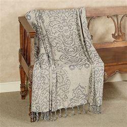 Hemmingway Throw Blanket Linen 50 x 60