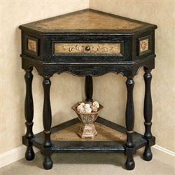 Elmhurst Corner Table Black