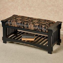 Marrison Upholstered Bench Black