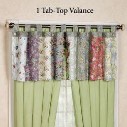 Blooming Prairie Tab Top Valance Multi Cool 84 x 21