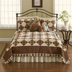 Selina Quilt Chocolate