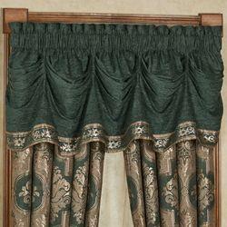 Marietta Emerald Green Tuck Valance Window Treatment 80 00 Casanova Wide Tailored Curtain