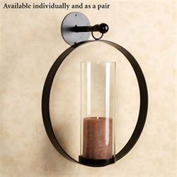 Hanging Circle Wall Sconce Black