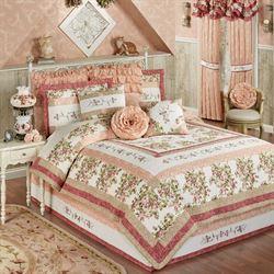 daydream quilt set rose - Touch Of Class Bedding