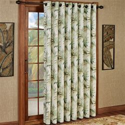 Paradise Leaf Grommet Patio Panel Parchment