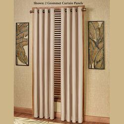 Paradise Solid Color Grommet Curtain Panel