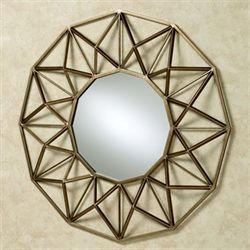 Octogone Wall Mirror Antique Gold