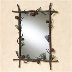 Pine Array Wall Mirror Brown