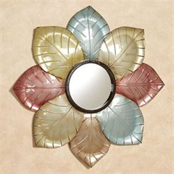 Millie Floral Mirrored Wall Art Multi Jewel