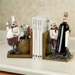 Chefs Gourmet Bookends Multi Earth Pair