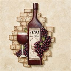 Vino Italiano Wall Plaque Multi Earth