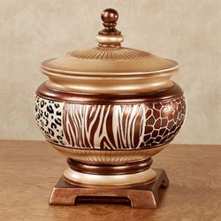 Dakarai Safari Covered Jar Multi Metallic